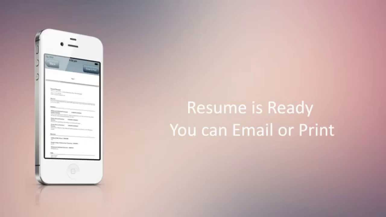 Easy Resume Builder   YouTube