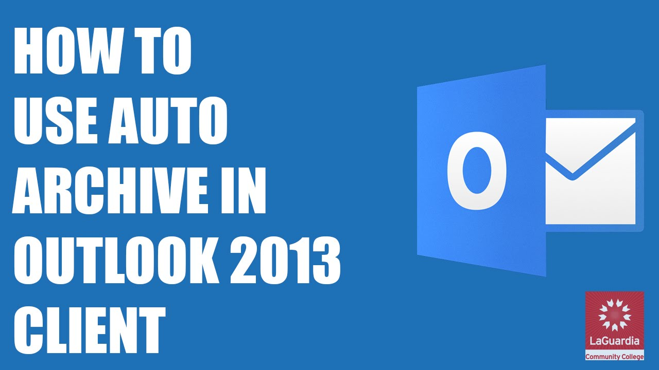 how to create archive in outlook