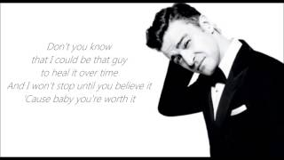 justin timberlake not a bad thing lyric video