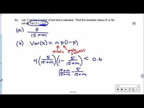 IB Math SL Nov 2016 TZ0 Paper 2 Question 7 YouTube