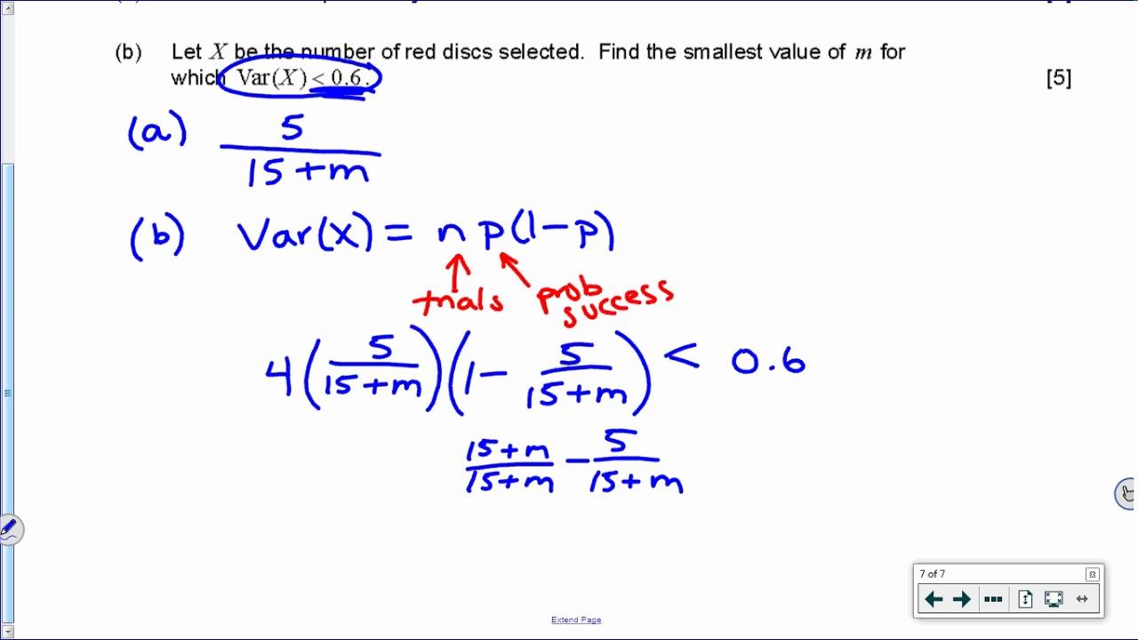 [IB Math SL] Nov 2016 TZ0: Paper 2, Question 7