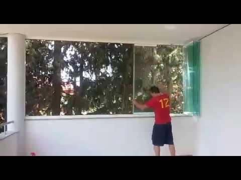 Instalaci n de cortina de cristal en lorca murcia for Cortinas de cristal murcia