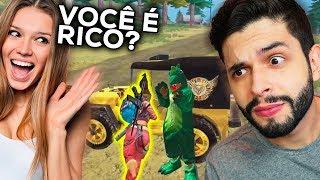 ELA QUER DIAMANTE?!? A INSCRITA INTERESSEIRA ME CARREGOU NO FREE FIRE!!!