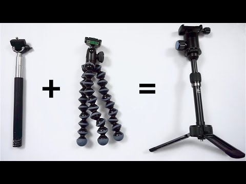 top 3 diy tripods how to make a substitutes for a tri doovi. Black Bedroom Furniture Sets. Home Design Ideas