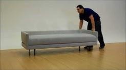 Tango 3M sleeper sofa, fabric  Ecco Fleece 121 Silver