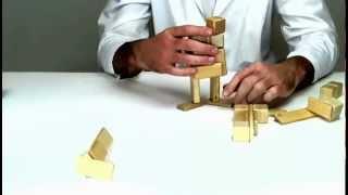 Tegu Wooden Building Blocks From Tegu - Building A Cheerleader
