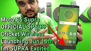 Motorola Moto e5 supra Cricket Wireless Review Full Hands On