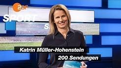 Katrin Müller-Hohenstein macht die 200 voll | das aktuelle sportstudio - ZDF