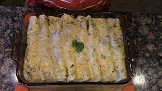 Avacado Chicken Enchiladas- Pinned It & Did It!