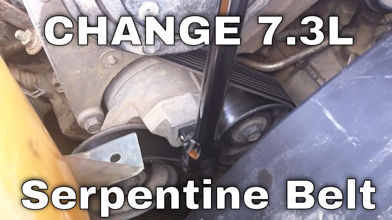 73l Psd How To Change A Serpentine Belt Youtube Navistar 444e Engine Diagram