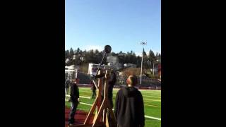Trebuchet Throwing Softball At Lhs