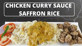 Chicken Curry Sauce with Saffron Rice   CWC Recreation recipe