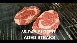 35-Day Butter Aged Ribeye Prime Rib Steak How-To BBQ Champion Harry Soo SlapYoDaddyBBQ.com