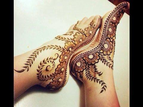 Simple Legs Mehndi Designs 2017
