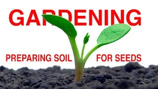 Preparing Soil For Seeds -   FOOD GARDENING Part 1