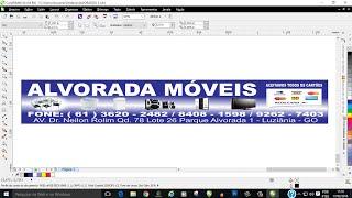 CorelDraw-Como fazer e mandar arquivos em grandes formatos para impressão-placa de loja10mx2m
