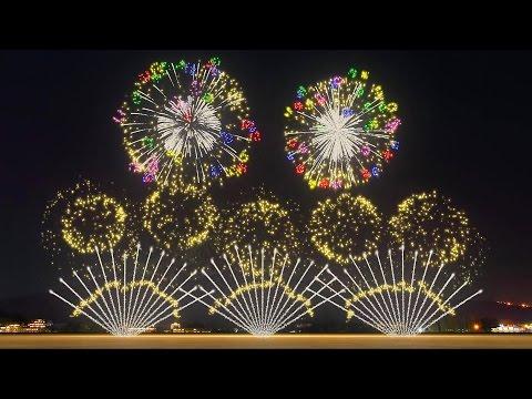 FWsim Mount Fuji Synchronized Fireworks Show