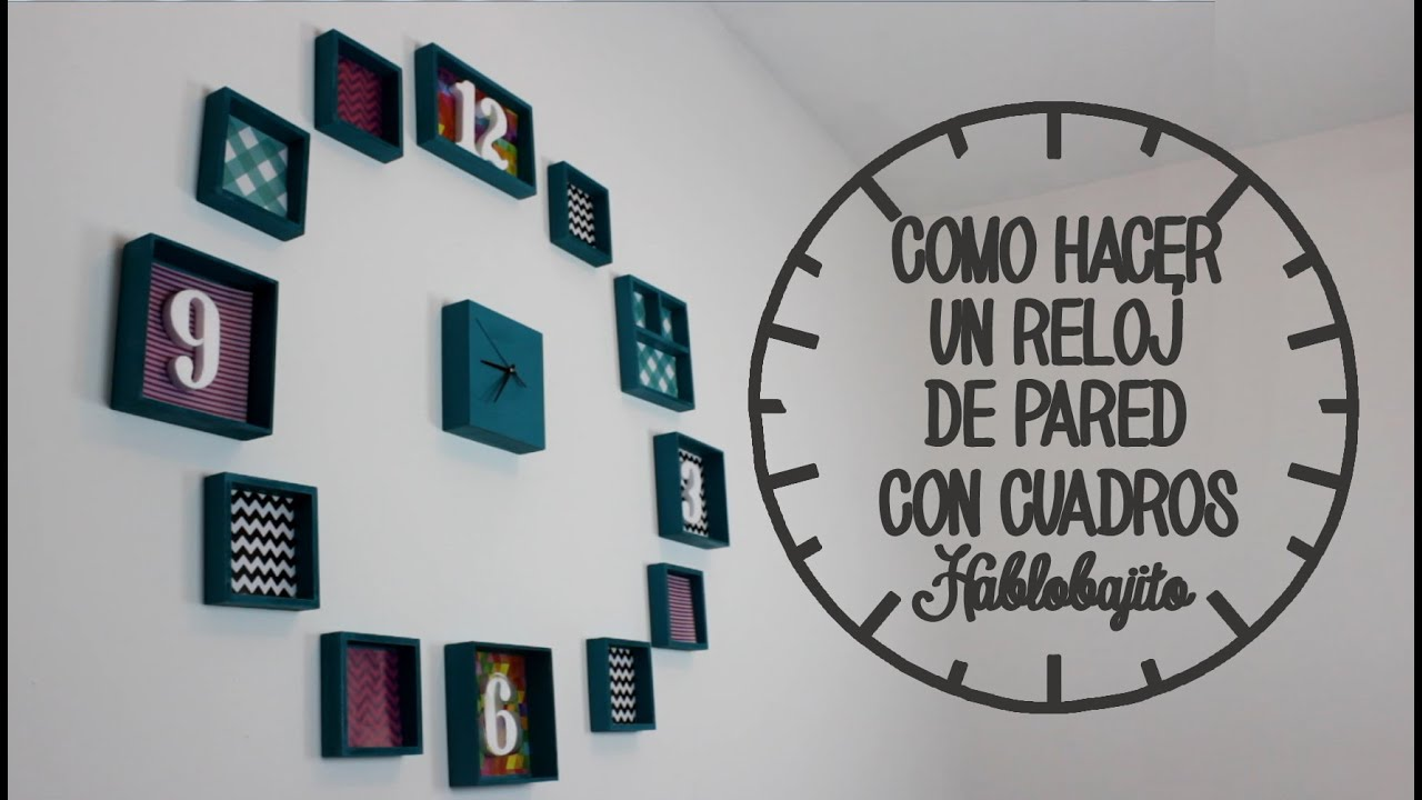C mo hacer un reloj de pared ideas para decorar tu - Como decorar una pared de habitacion ...