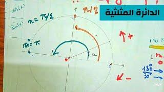 الدائرة المثلثية كيفية تعين للزوايا  sin cos tan - أولى ثانوي رياضيات