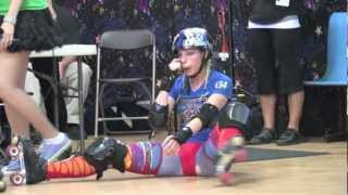 2012 Queen City Roller Girls Playoffs.  Dollies vs. Kats,  Knockouts vs. Saucies
