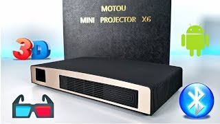 Motou X6 [3D Projector] - Android OS - Bluetooth - WiFi - 2000 Lumens- 200