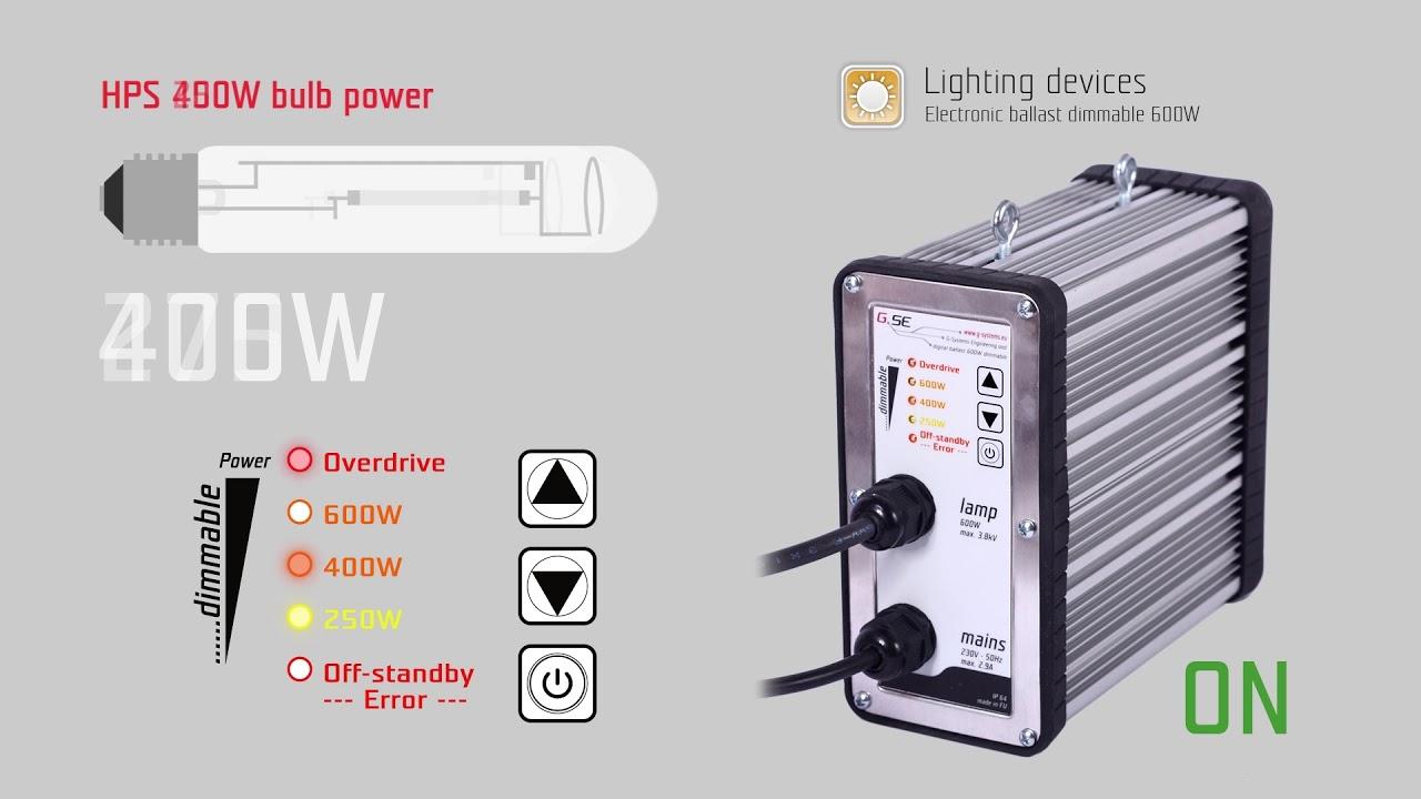 GSE Elektronisches Vorschaltgerät 250W-660W - YouTube