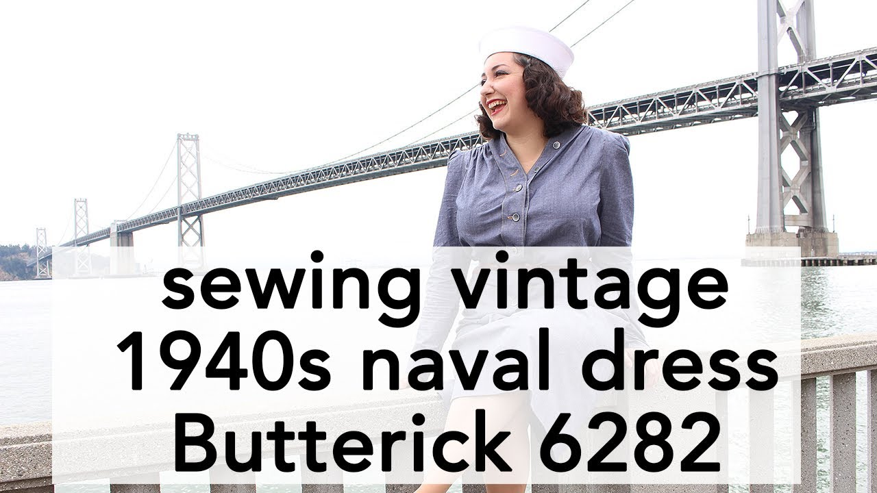 61d08dd61a9 How to Sew 1940s Navy Dress