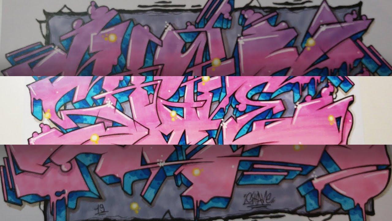 Pink Wildstyle Sketch - SHAVE Graffiti Piece #171