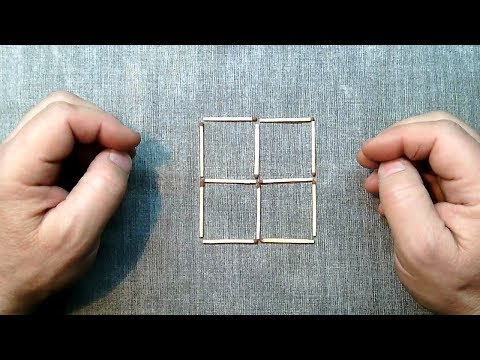 Как убрать 3 спички чтобы получилось 2 квадрата