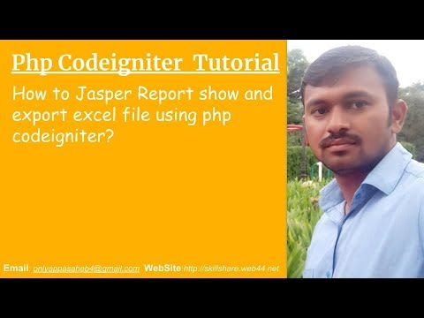 How to Jasper Report show and export excel file using php codeigniter?