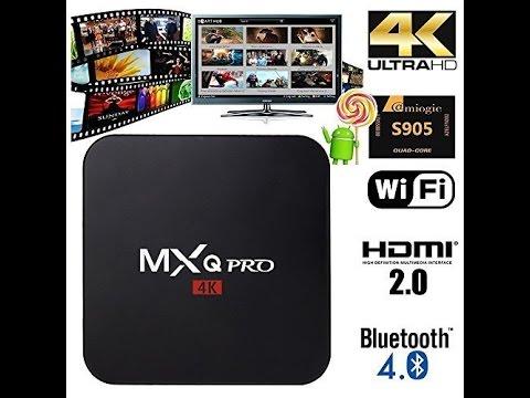 Mxq Pro Amlogic S905 Mxq Smart Tv Box Unboxing Youtube