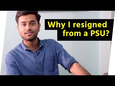 Why I resigned from Indian Oil Corporation?