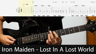 Iron Maiden - Lost In A Lost World Intro And Verse Dist. Guitar Riffs With Tabs