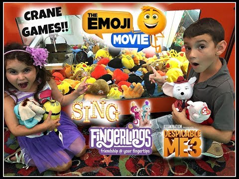 CRANE GAMES!! The Emoji Movie Despicable Me 3 Fingerlings Sing! Boardwalk Fun! Jersey Shore! VLOG!!