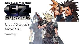 EHRGEIZ - CLOUD & ZACK MOVE LIST