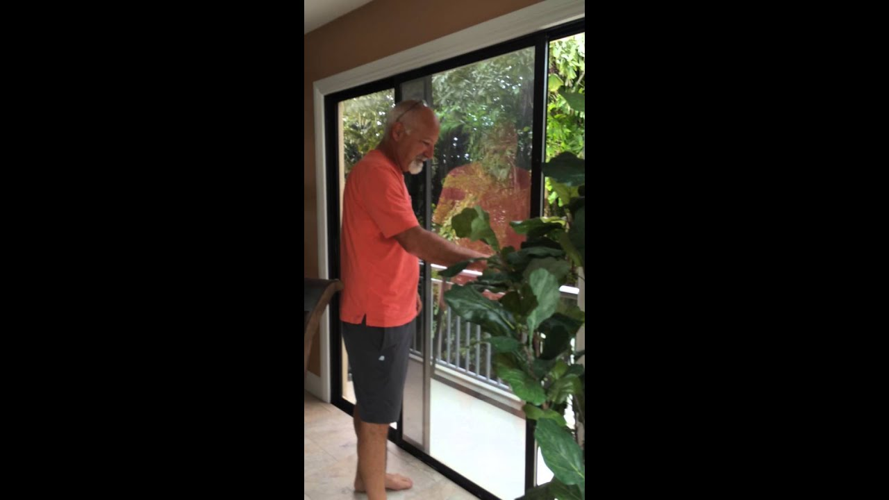 Sliding Glass Door Repair Amazes Homeowner In The Florida Keys Youtube