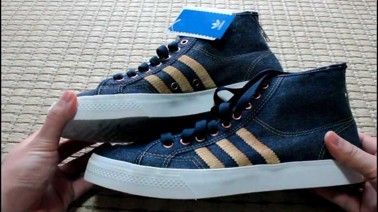 buy online f58c2 f7b6f adidas sneakers NIZZA HI PLS HLZ DENIM detail