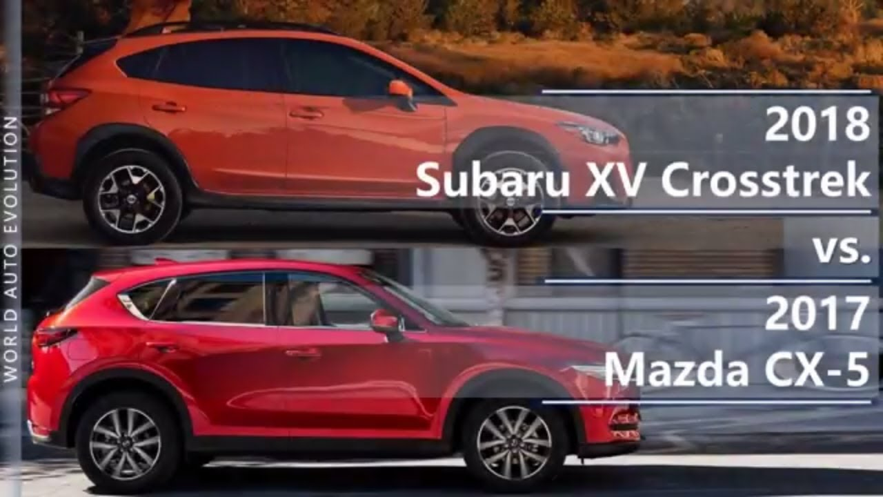 Crosstrek Subaru Forester 2018 >> 2018 Subaru XV Crosstrek vs 2017 Mazda CX-5 (technical comparison) - YouTube