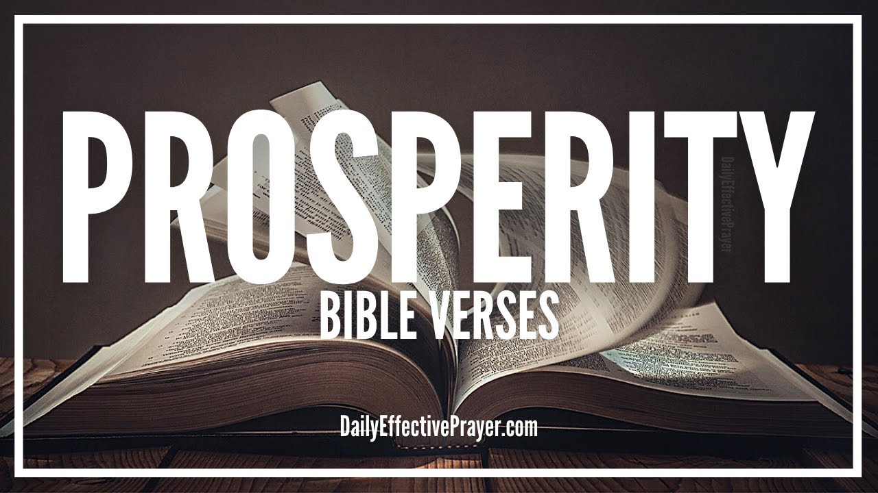 Bible Verses On Prosperity | Scriptures For Prosperity, Wealth, Success (Audio Bible)
