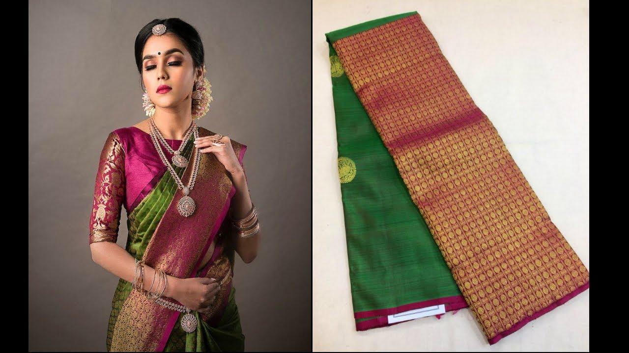098f127eb7 Designer Kanchipuram Silk Sarees Buy Online from Million Designs | TTS