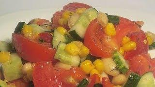 Салат Овощной кулинарный видео рецепт