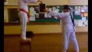 Martial arts blindfolded kick demonstration! Watch this!