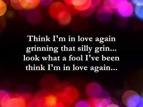 Think I'm In Love Again  || Lyrics ||  Paul Anka