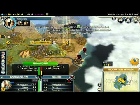 Let's Play Civilization 5 HD Part 11 - Fernangriffe |