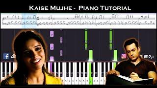 ♫ KAISE MUJHE (Ghajini) || 🎹 Piano Tutorial + Sheet Music (with English Notes) + MIDI