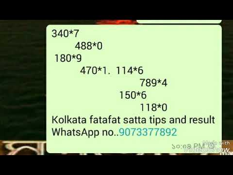 Kolkata fatafat satta tips and result 25/3/2018 - YouTube