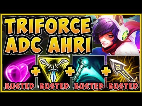 TROLL OR 200 IQ BUILD?? TRIFORCE ADC AHRI IS 100% NUTTY! AHRI SEASON 9 GAMEPLAY! League of Legends