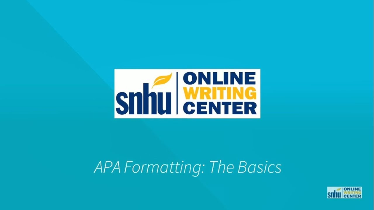 How do I make an APA cover sheet? - SNHU Library Frequently