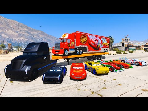 Cars 3 Trucks Gale Beaufort Mack Truck Jackson Storm Cruz Ramirez McQueen & Friends Videos for Kids