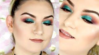 maquillaje elegante con glitter paso a paso